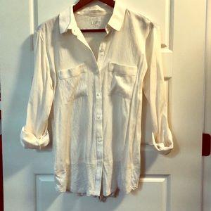 White/cream blouse - LOFT